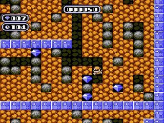 Gameplay boulder dash nes