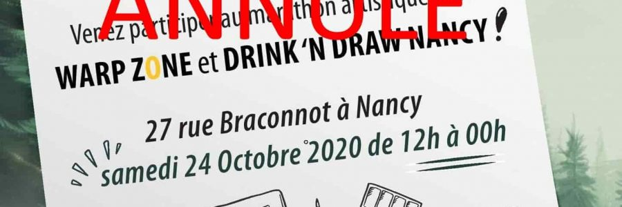 ANNULÉ  – Drink & Draw à WZ : 25h de la BD et de l'illustration !