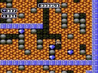 Gameplay boulder dash nes